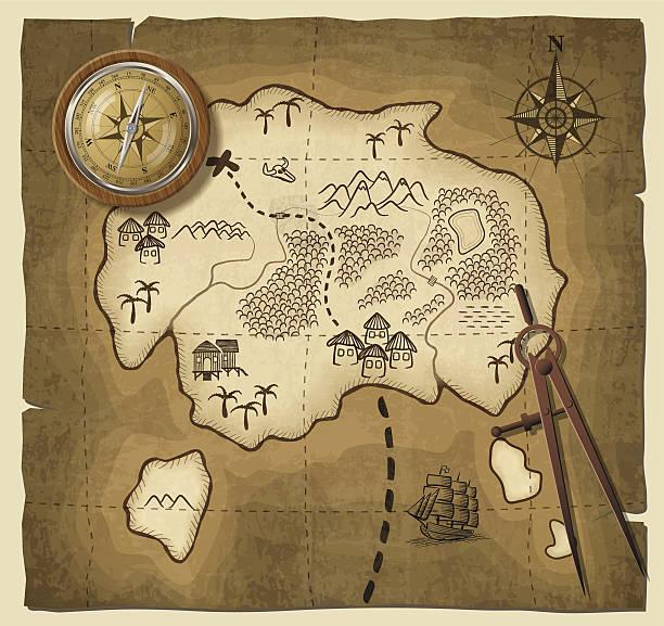 illustrations, cliparts, dessins animés et icônes de vieille carte - cartes au trésor