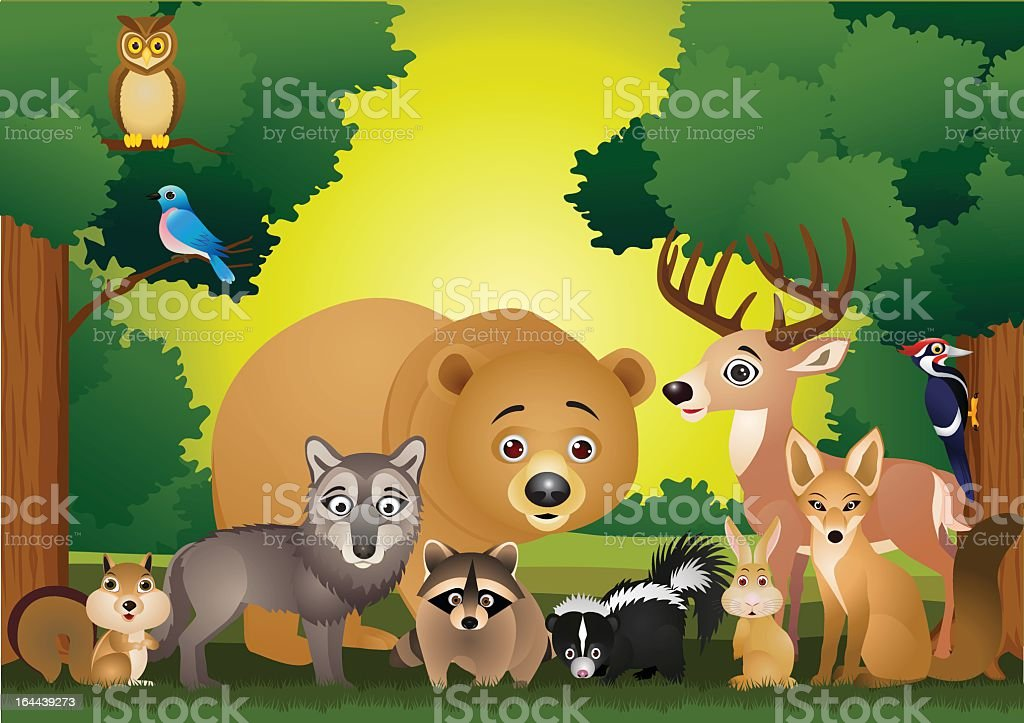 Cartoon drawing of several wild animals royalty-free cartoon drawing of several wild animals stock vector art & more images of animal