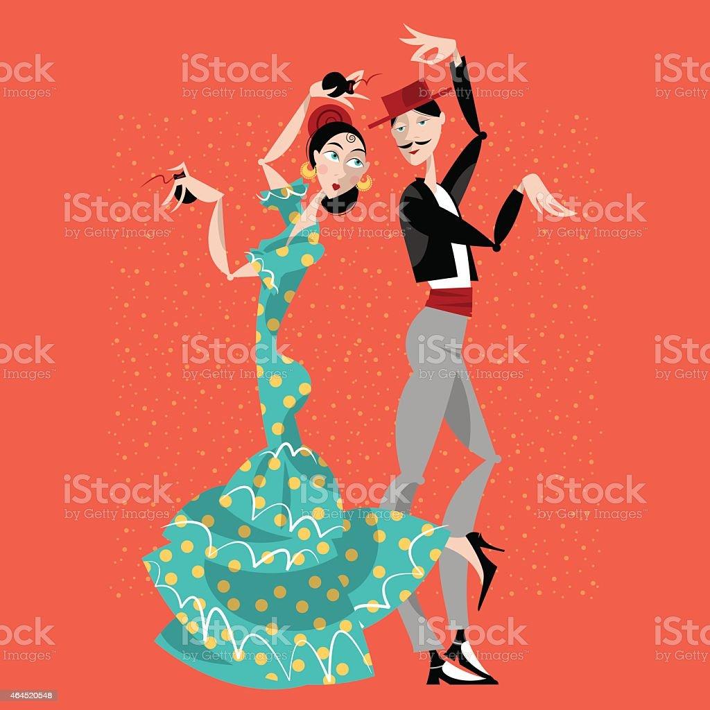 Flamenco bar dancers. - ilustración de arte vectorial