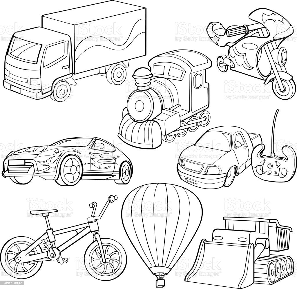 different transportation coloring pages - photo#19