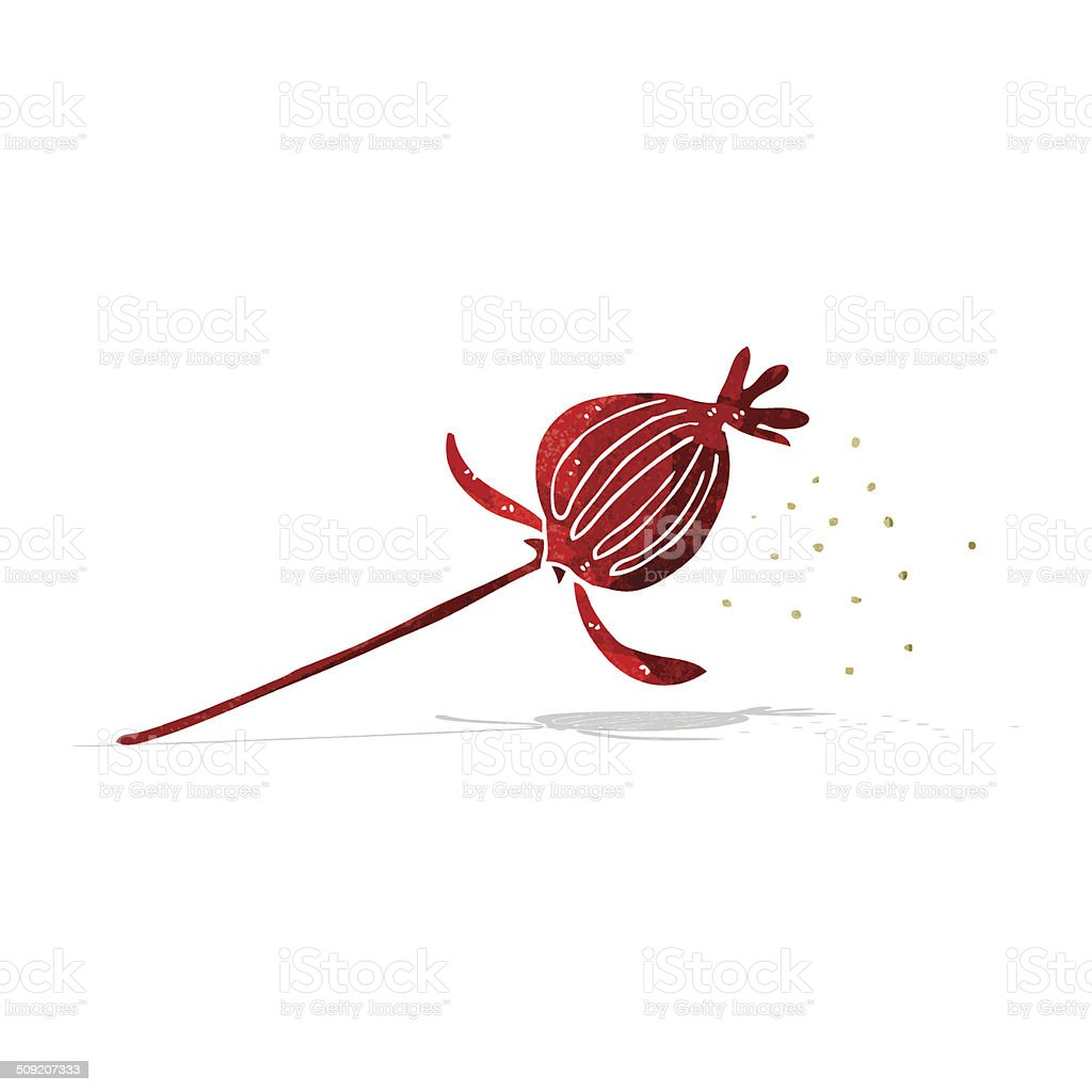 Cartoon Dried Poppy Flower Stock Vector Art More Images Of Bizarre