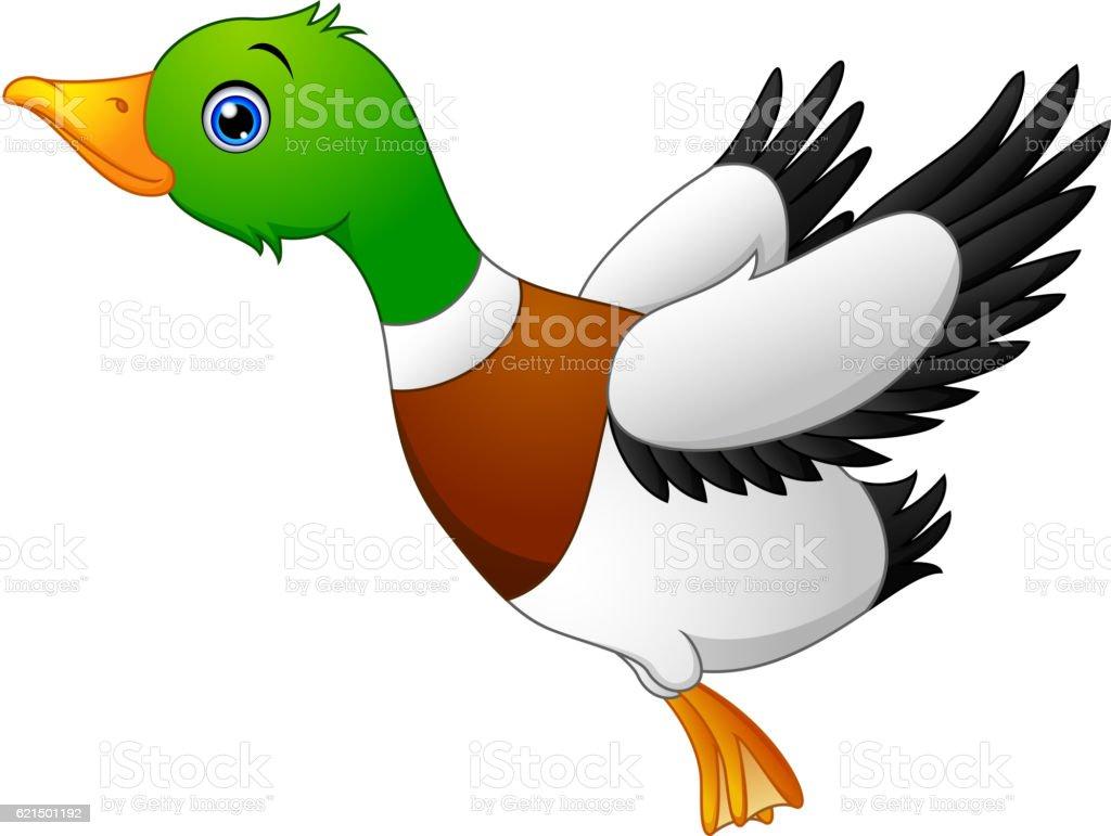 Cartoon duck flying cartoon duck flying - immagini vettoriali stock e altre immagini di anatra royalty-free