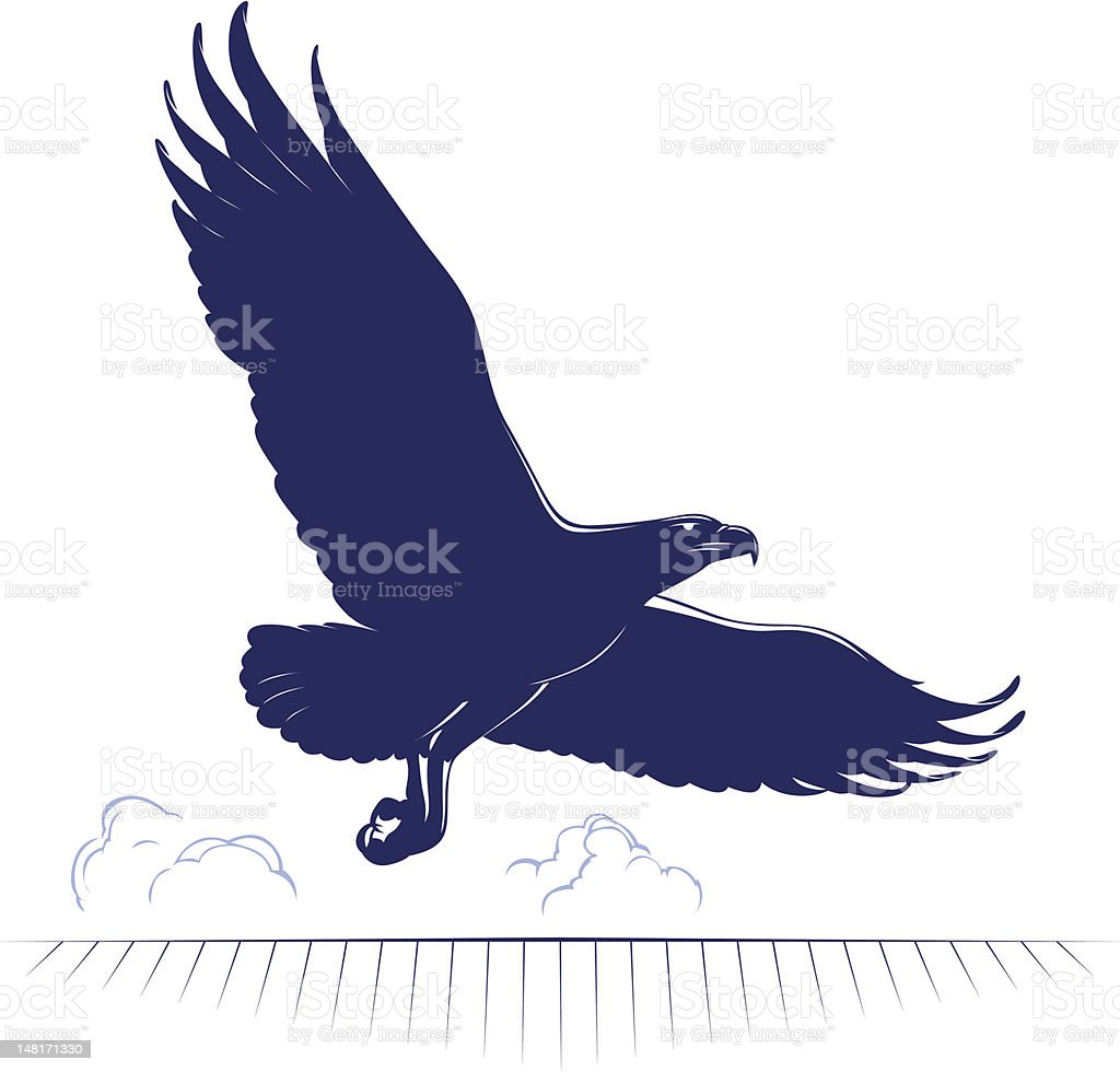 cartoon eagle flying royalty-free stock vector art