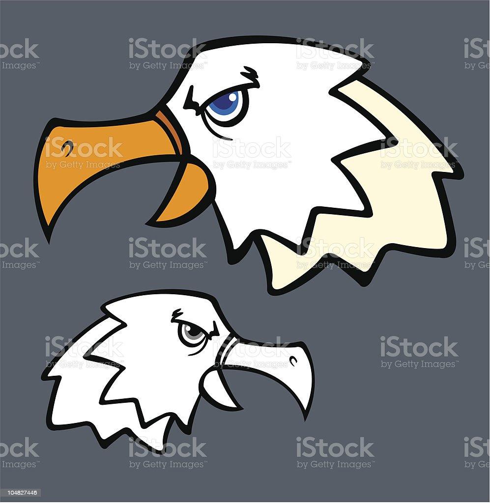 cartoon eagle vector art illustration