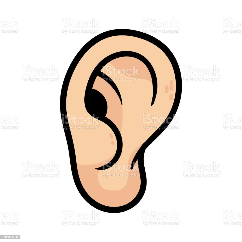 Ilustraci n de o do de dibujos animados y m s vectores - Clipart oreille ...