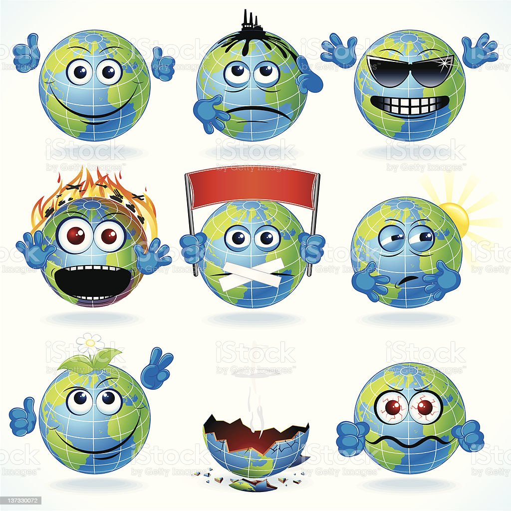 Cartoon Earth royalty-free cartoon earth stock vector art & more images of accidents and disasters