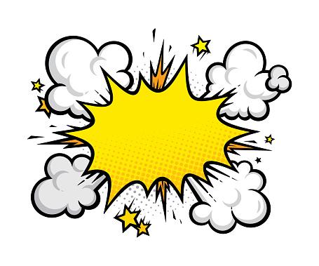 Cartoon effects explosion design element