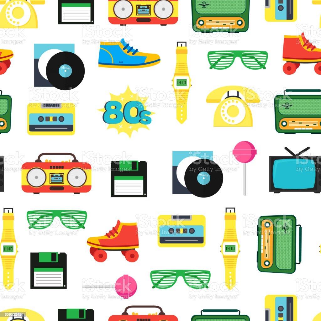 Dessin Anim 70 80 Liste: Dessin Animé Des Années 80 Style Symbole Motif
