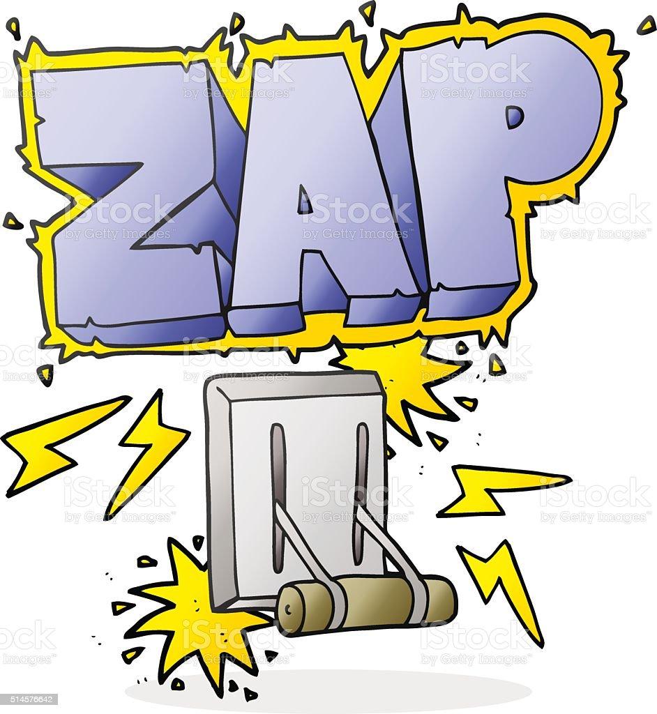 Comic Elektrischer Schalter Zappen Stock Vektor Art und mehr Bilder ...