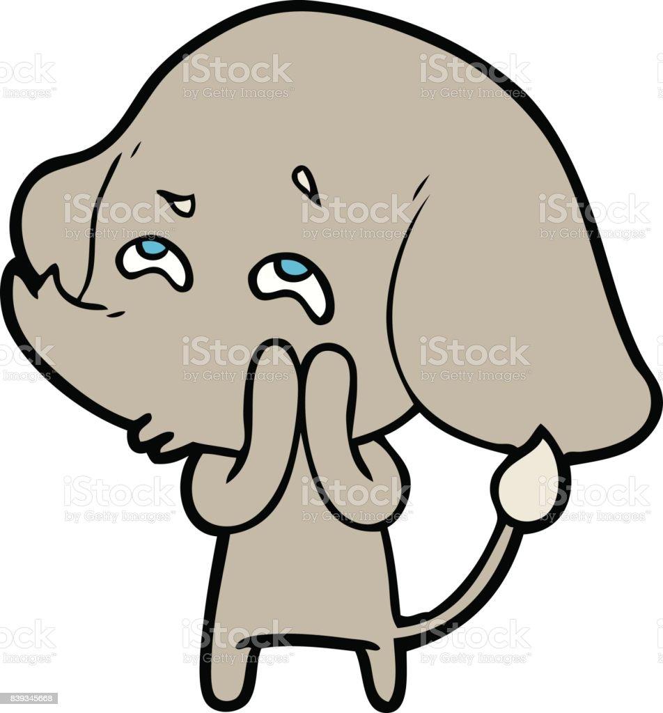 Ilustracion De Elefante De Dibujos Animados Recordando Y Mas Banco