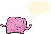 cartoon elephant trumpeting
