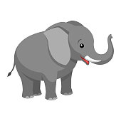 istock A cartoon elephant 1072174076