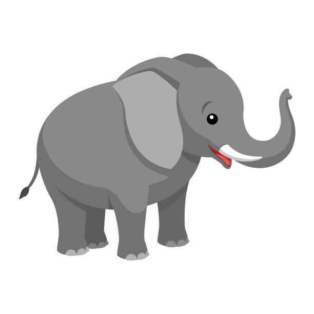 A cartoon elephant Illustrationen visar en tecknad elefant elephant stock illustrations