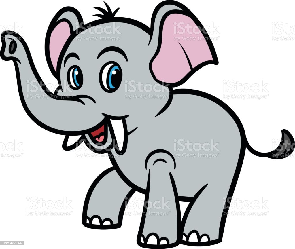 cartoon elephant vector illustration stock vector art more images rh istockphoto com elephant vector images elephant vector free download