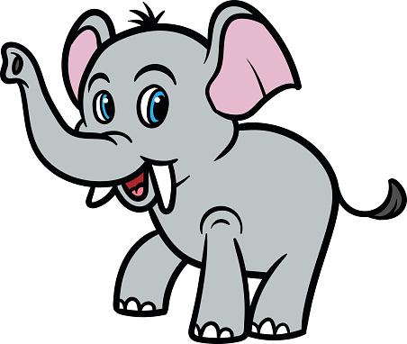 Cartoon Elephant Vector Illustration Stock Illustration ...