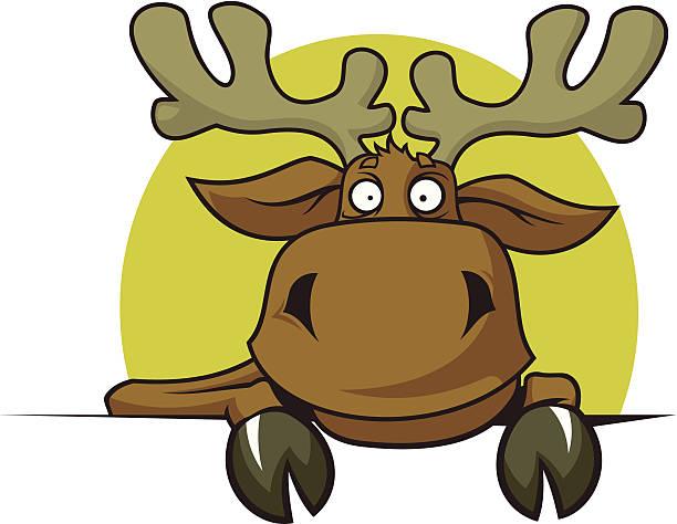 cartoon elk - moose stock illustrations