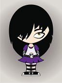 Cartoon emo girl
