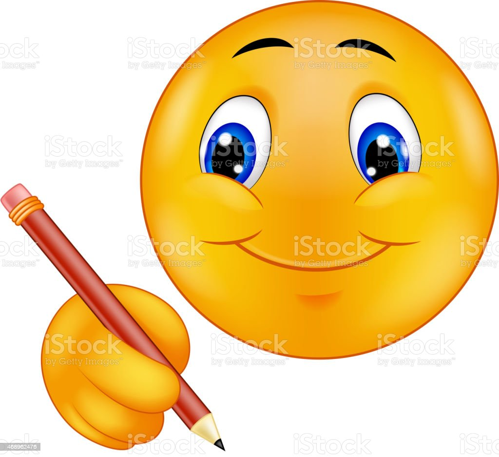 cartoon emoticon writing stock vector art   more images of clipart spelling spelling clip art images