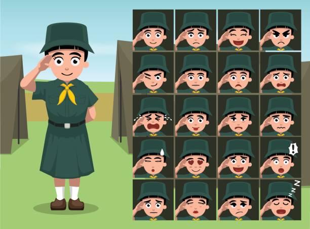 Cartoon Emotion sieht Vektor-Illustration – Vektorgrafik