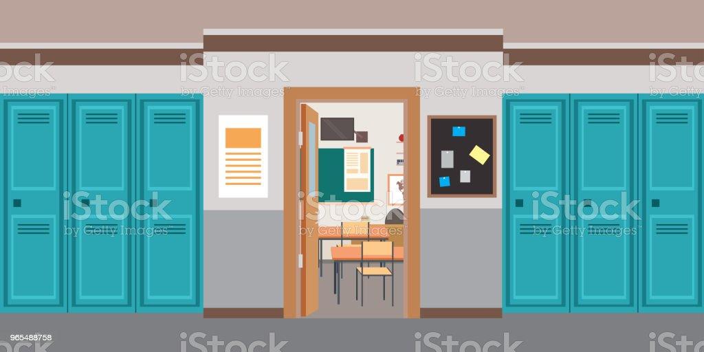 Open classroom door Cartoon Cartoon Empty School Interior And Open Door In Classroom Royaltyfree Cartoon Empty School Interior Istock Cartoon Empty School Interior And Open Door In Classroom Stock