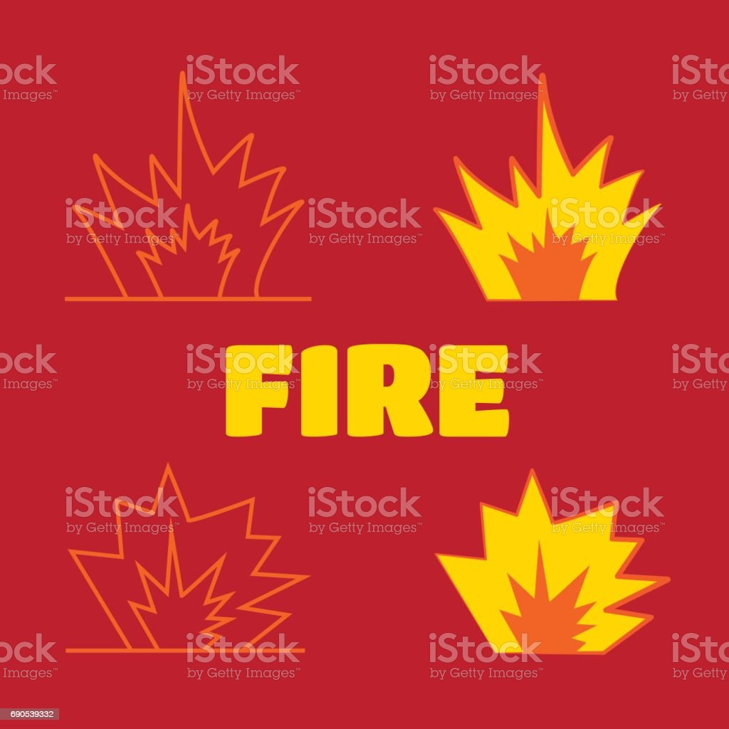 Cartoon Explosion Effect With Smoke Effect Boom Explode Flash Stock