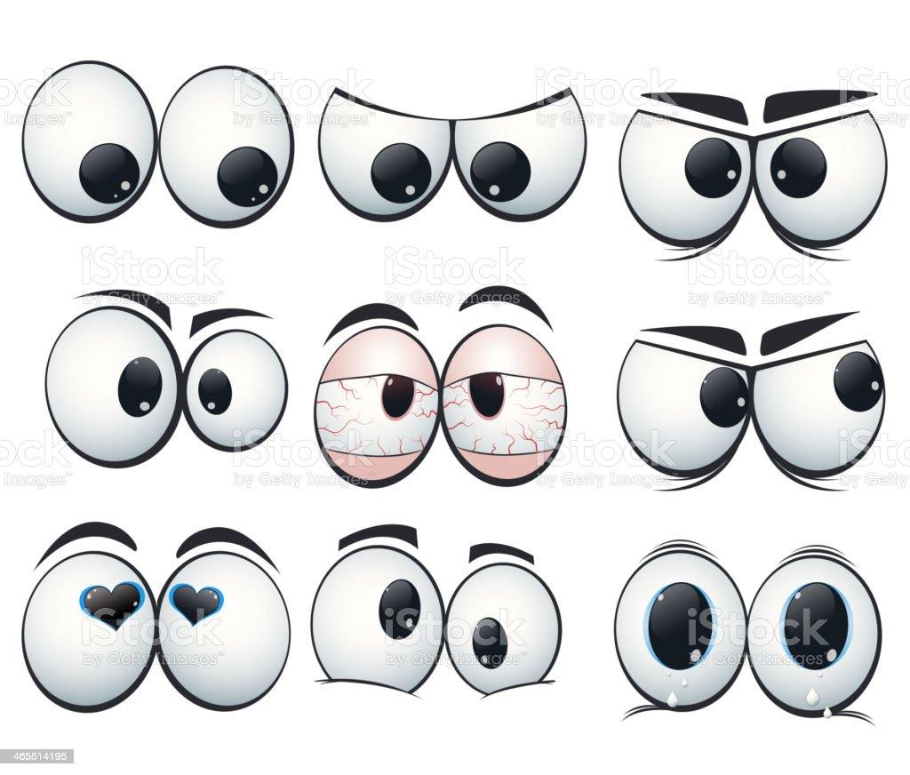 Expressão dos olhos com as vistas diferentes - ilustração de arte em vetor