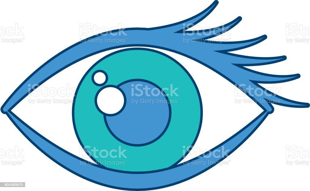 Vetores De Olhos De Desenho Animado Olha Icone Visual Sobrancelha