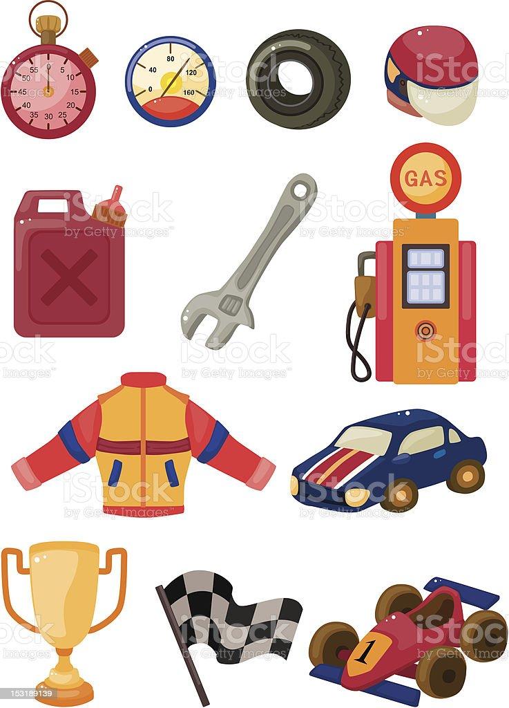 cartoon f1 car racing icons royalty-free cartoon f1 car racing icons stock vector art & more images of beginnings