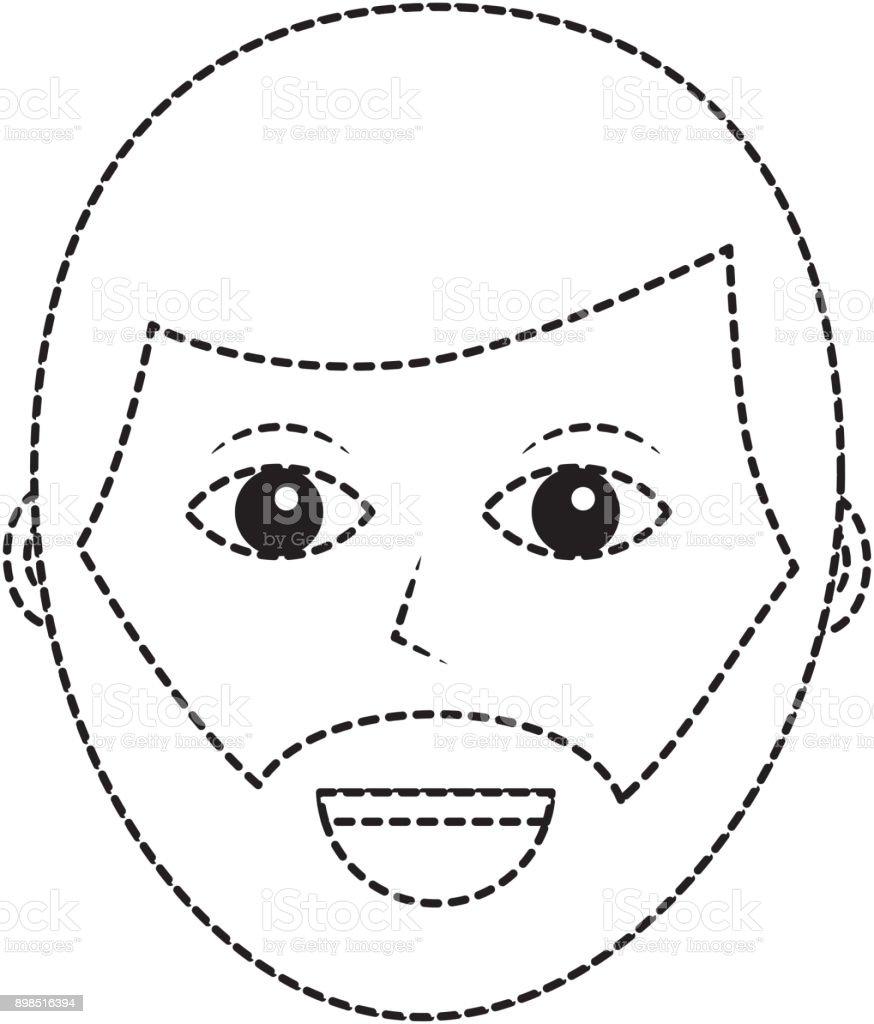 Vetores De Desenho Animado Rosto Homem Personagem Masculino Pessoa