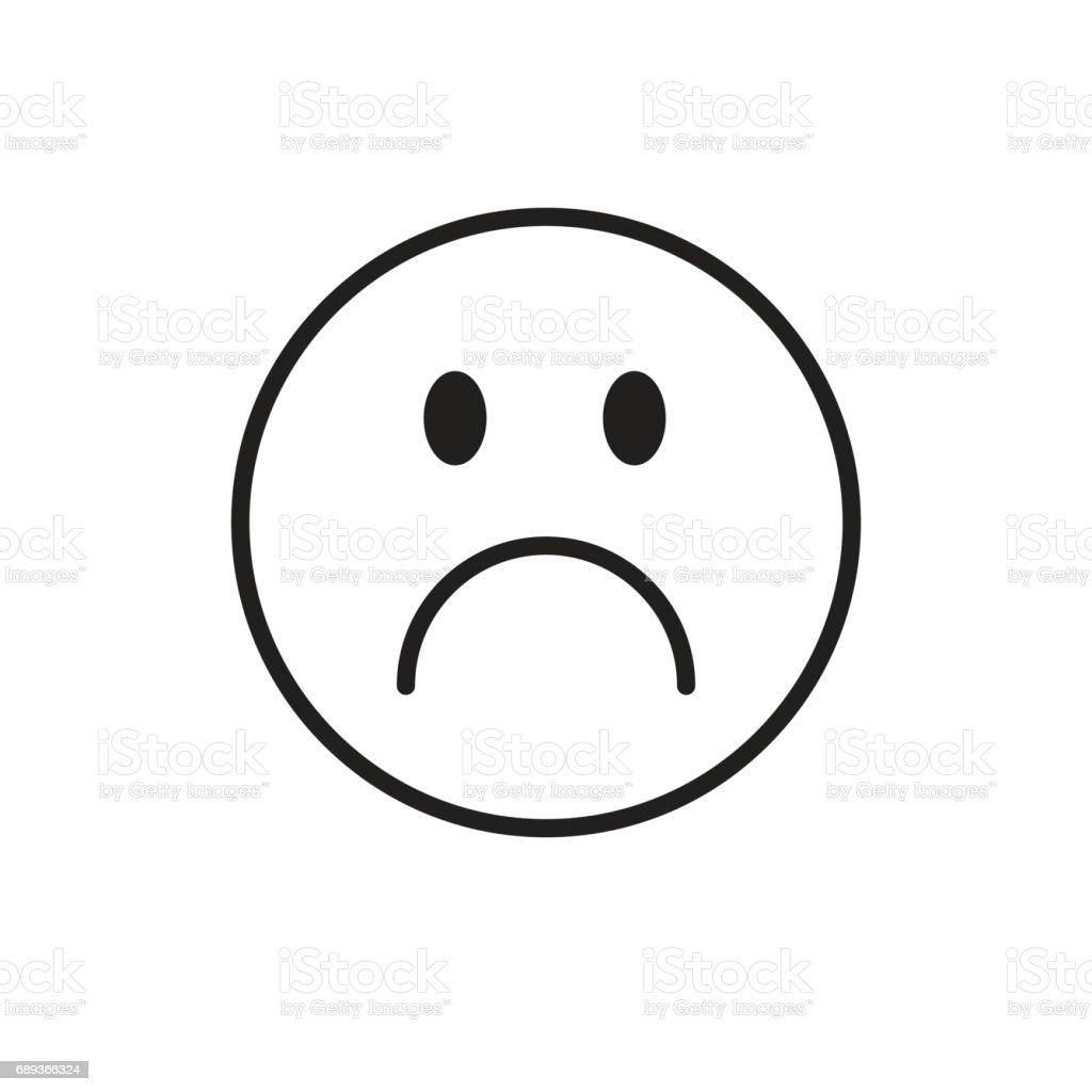 漫画顔悲しいネガティブな人々 の感情アイコン つながりのベクター