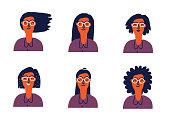 cartoon face set