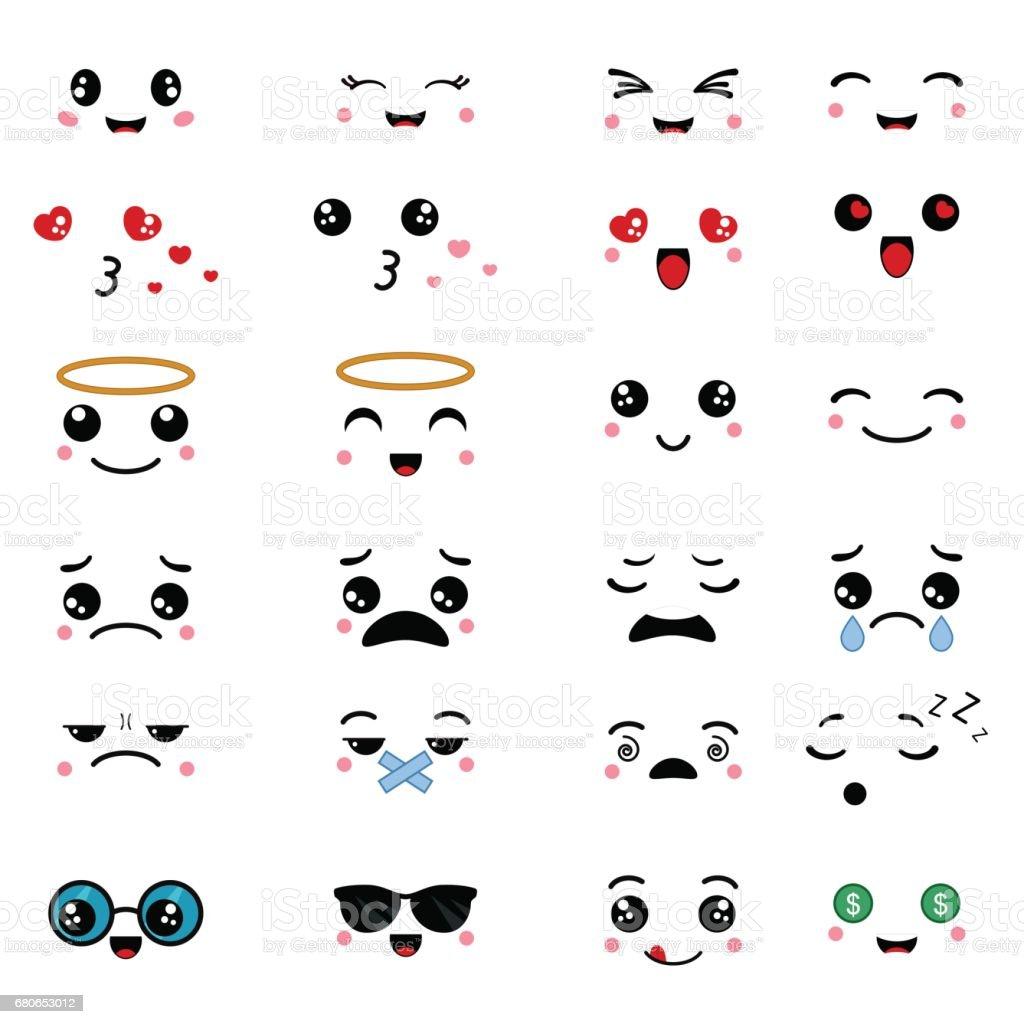 Ilustración De Dibujos Animados Caras Expresiones Y Más