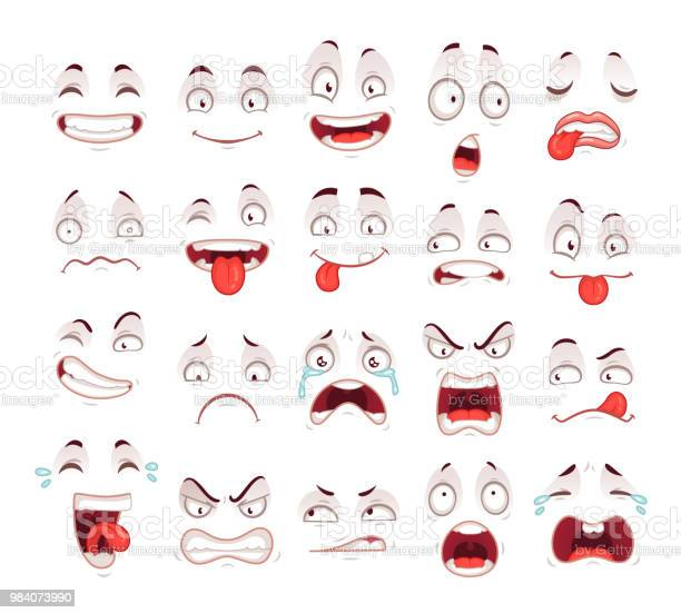 Cartoon faces happy excited smile laughing unhappy sad cry and scared vector id984073990?b=1&k=6&m=984073990&s=612x612&h=cidagcwcwpbkfjchbbogg1v0ul1etcggc2mm8 uazd4=