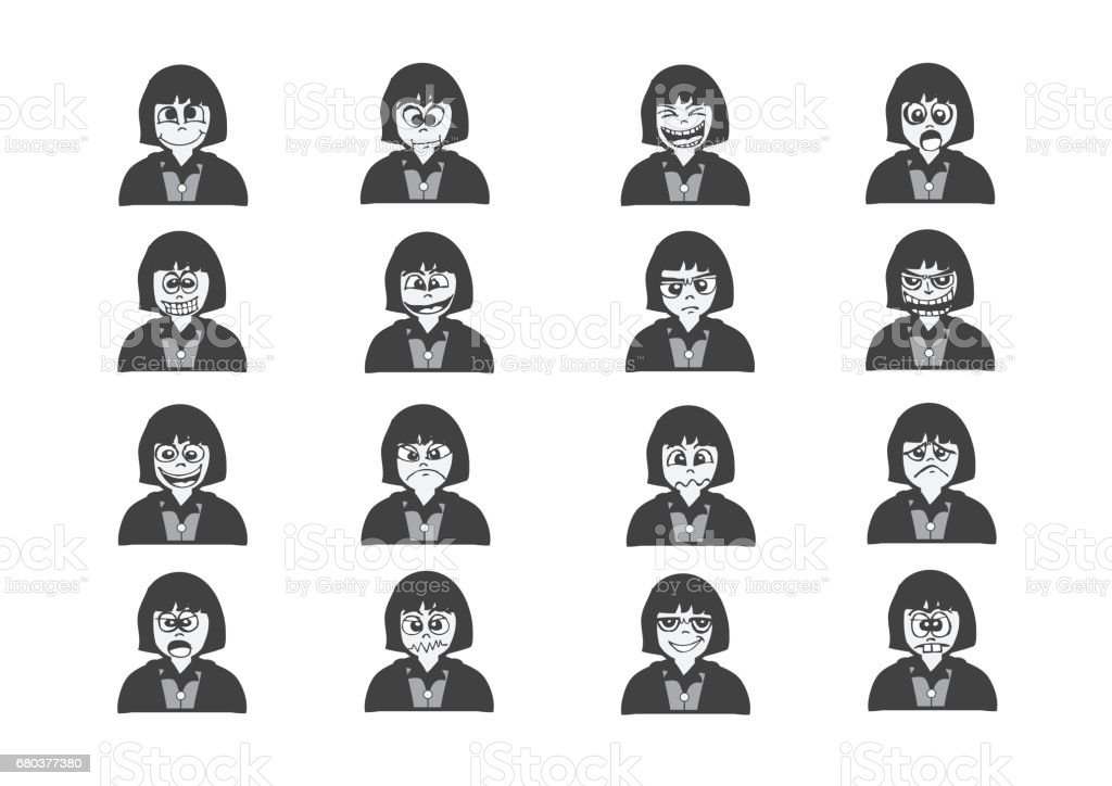 Cartoon faces Set drawing illustration royalty-free cartoon faces set drawing illustration stock vector art & more images of aggression