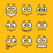 Cartoon faces set