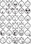 cartoon faces...