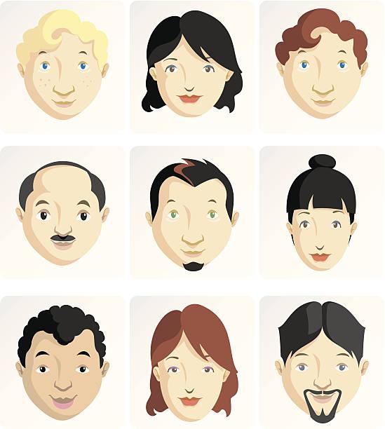cartoon faces - old man face cartoon stock illustrations, clip art, cartoons, & icons