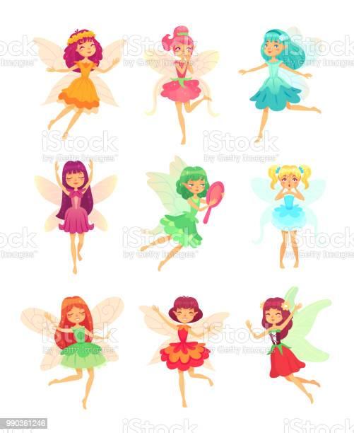 Cartoon fairy girls cute fairies dancing in colorful dresses magic vector id990361246?b=1&k=6&m=990361246&s=612x612&h=u8922rozkkrdiwppqp8lgnc6kda2yn3skaouidv4x8m=