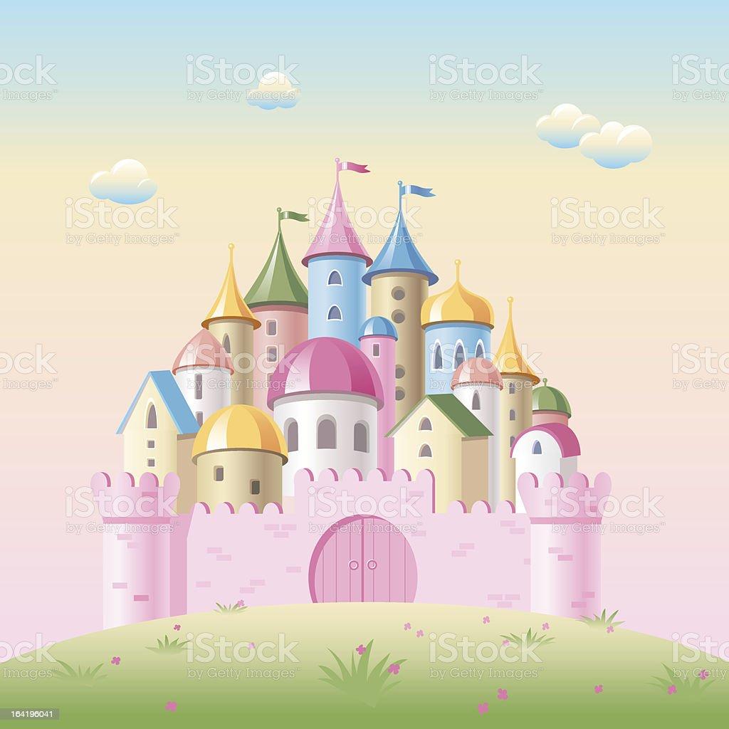 Cartoon fairy tale castle royalty-free stock vector art