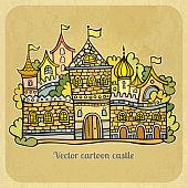 Cartoon fairy-tale castle