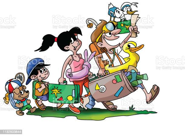 Cartoon family going on a vacation with their dog vector illustration vector id1132503844?b=1&k=6&m=1132503844&s=612x612&h=lueh0jplt7fyc4rqikop1soaznlol0fb ey6jc8vdta=