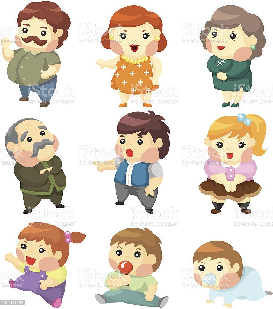 cartoon family icon royalty-free stock vector art