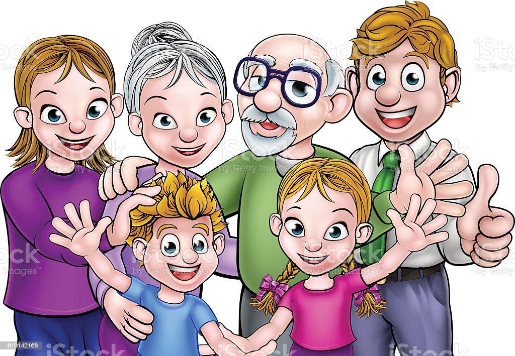 カットイラスト家族 イラストレーションのベクターアート素材や画像を