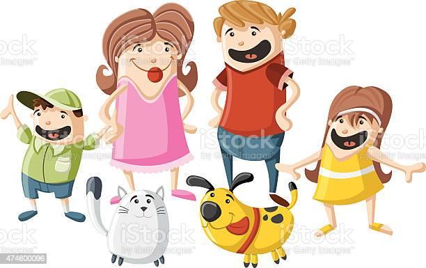 Cartoon family with pets vector id474600096?b=1&k=6&m=474600096&s=612x612&h=39rjvaasife2pnoe7jktx01iulp qs9e htcnojtkje=
