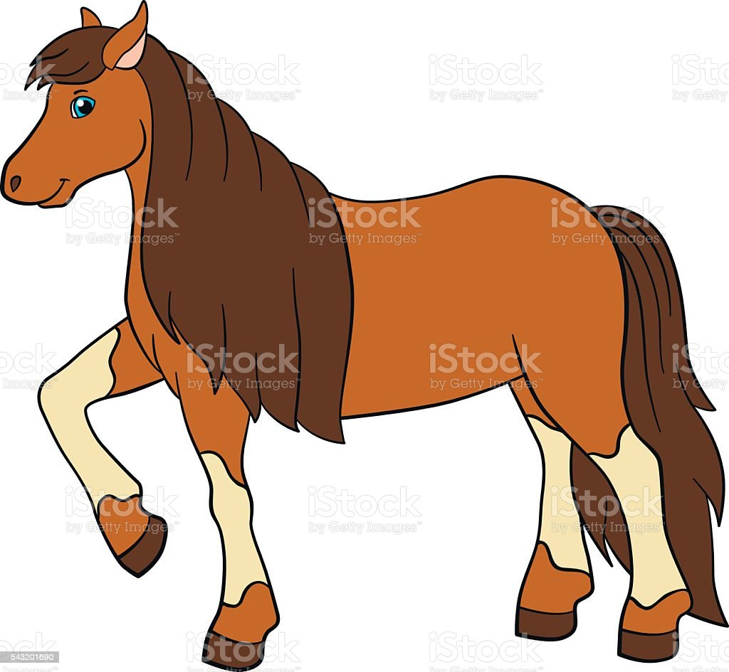 Cartoon Farm Animals Cute Horse Stock Illustration Download Image Now Istock