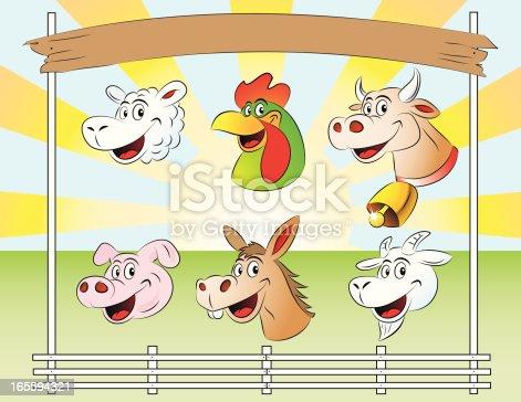 istock Cartoon Farm Friends 165594321