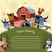 Cartoon Farm Poster