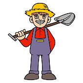 Cartoon Farmer Illustration