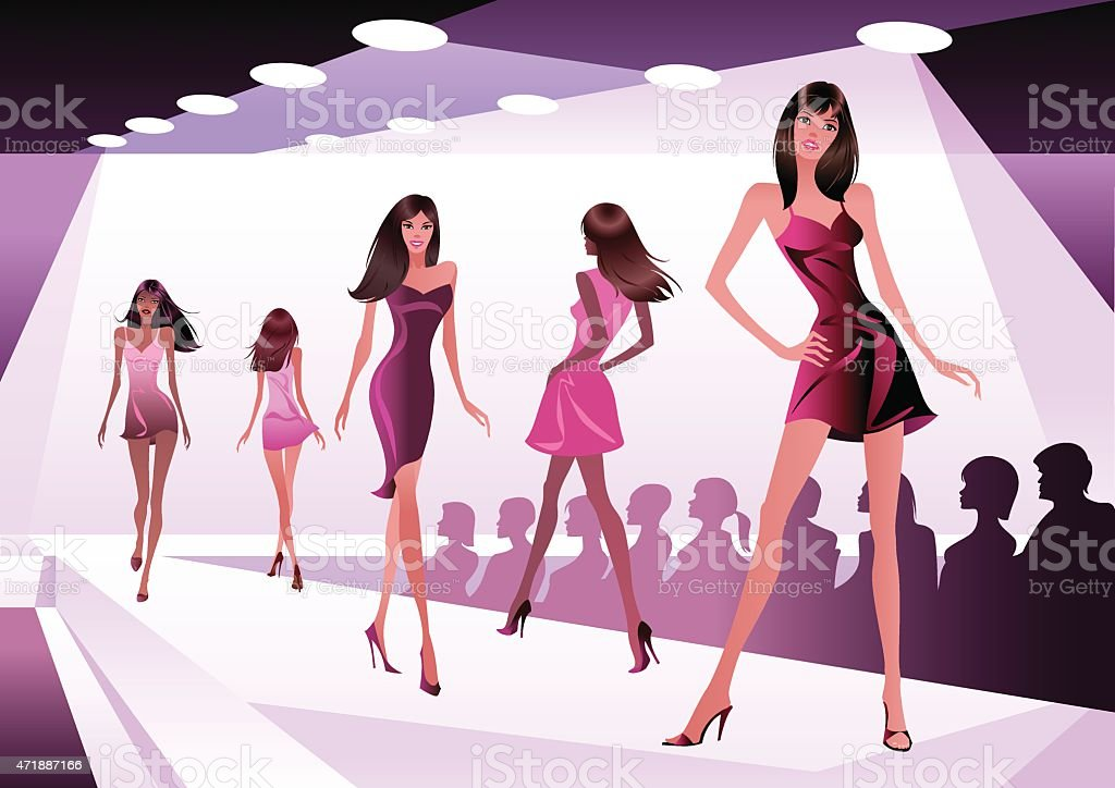 Catwalk Fashion Show Model Drawing
