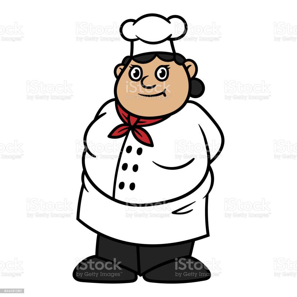 Dessin Animé Fat Femme Chef Cliparts Vectoriels Et Plus D Images